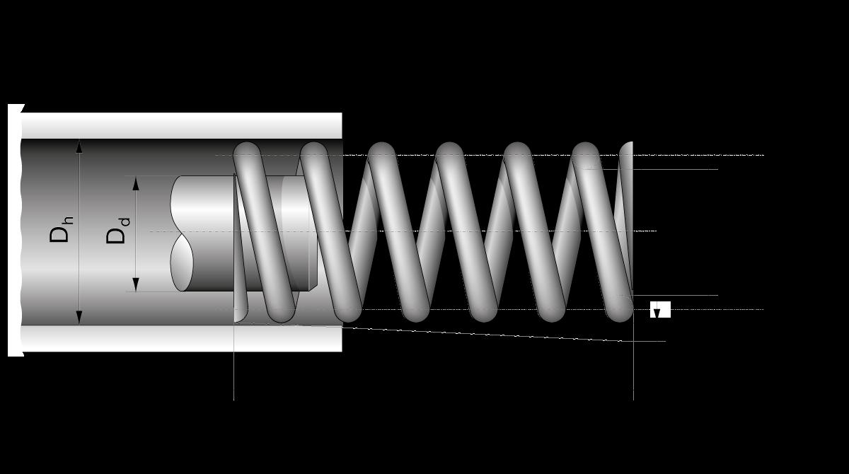 Spring Druckfeder 2,5 mm x 15,5 mm x 59 mm Edelstahl Stahlfeder, Feder