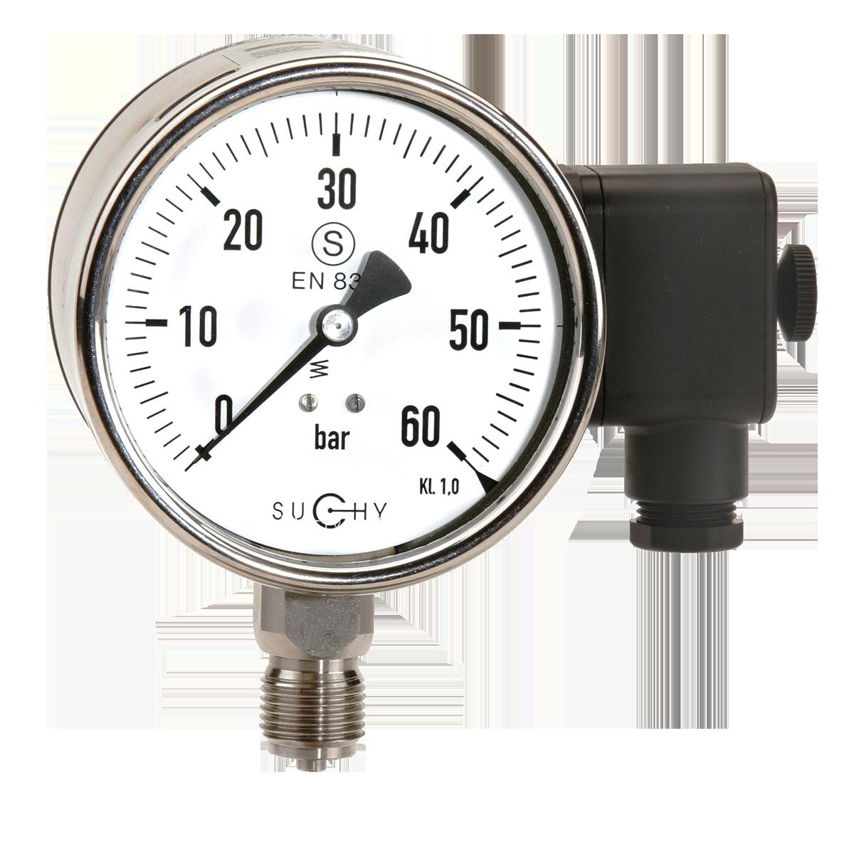 Manometer mit integriertem Drucksensor: HENNLICH
